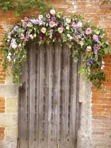 Floral wedding arch